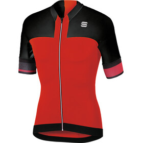 Sportful Strike Bike Jersey Shortsleeve Men red/black